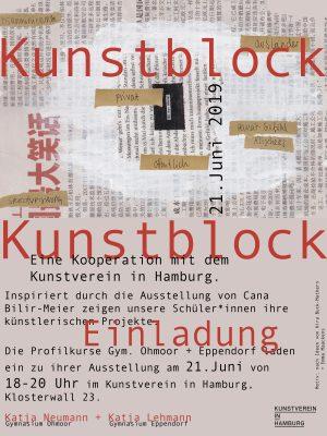 Kunstblock-Einladung